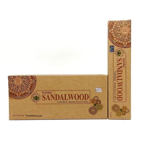 Incienso Goloka. Orgánico Sandalwood
