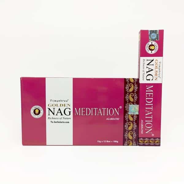 Golden Nag Meditación - Incienso Masala Vijashree