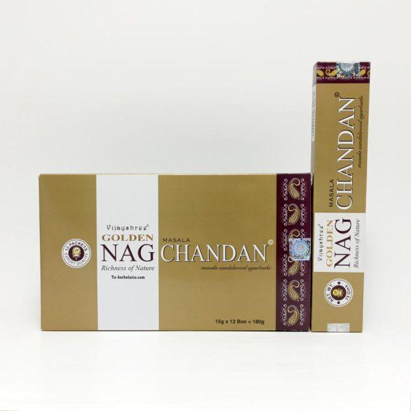Golden Nag Chandan Sandalo - Incienso Masala Vijayshree