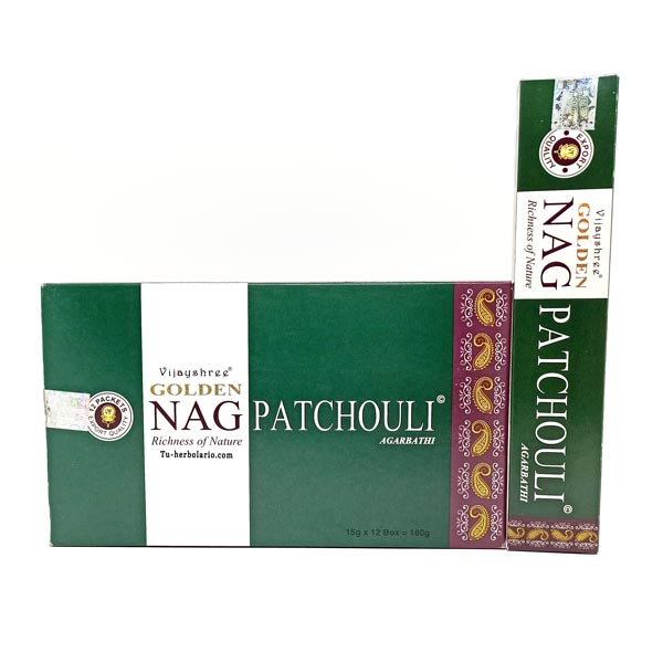 Golden Nag Pachuli - Incienso Masala Vijashree